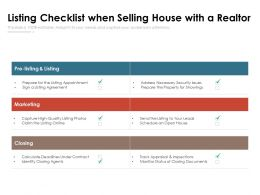 Listing Checklist When Selling House With A Realtor