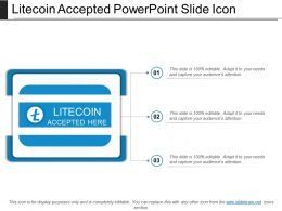 Litecoin Accepted Powerpoint Slide Icon