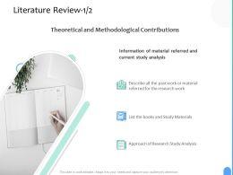 Literature Review Analysis Ppt Powerpoint Presentation Summary Portfolio