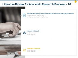 Literature Review For Academic Research Proposal Ppt Powerpoint Presentation Slides