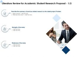 Literature Review For Academic Student Research Proposal L1718 Ppt Powerpoint Design