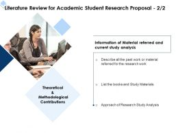 Literature Review For Academic Student Research Proposal Ppt Powerpoint Picture Model