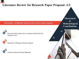 Literature Review For Research Paper Proposal Material Referred Ppt Presentation Images