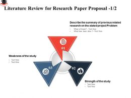 Literature Review For Research Paper Proposal Summary Previous Ppt Presentation Layout