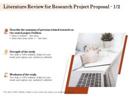 Literature Review For Research Project Proposal L1582 Ppt Powerpoint Gallery Outline