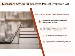 Literature Review For Research Project Proposal Ppt Powerpoint Presentation Model