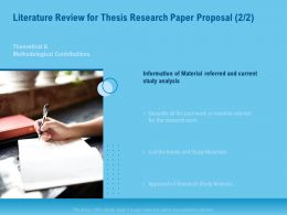 Literature Review For Thesis Research Paper Proposal Analysis Ppt Topics