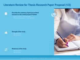 Literature Review For Thesis Research Paper Proposal Study Ppt Outline