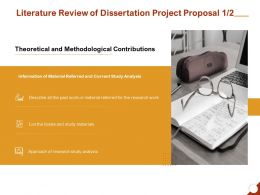 Literature Review Of Dissertation Project Proposal Information Ppt Powerpoint Presentation Layouts