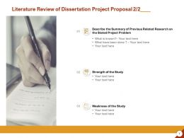 Literature Review Of Dissertation Project Proposal Strength Ppt Powerpoint Presentation Show