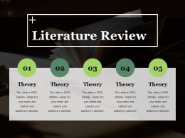 Literature Review Ppt Summary Slide Portrait
