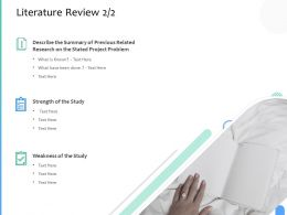 Literature Review Strength Ppt Powerpoint Presentation Layouts Templates