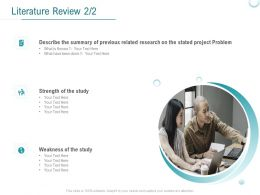 Literature Review Strength Ppt Powerpoint Presentation Summary Slide Download