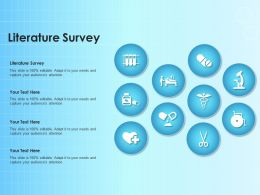 Literature Survey Ppt Powerpoint Presentation Model Clipart