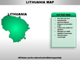 Lithuania Country PowerPoint Maps