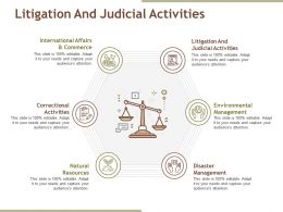 Litigation And Judicial Activities Powerpoint Slide Influencers