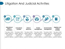 Litigation And Judicial Activities Ppt Design