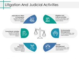 Litigation And Judicial Activities Ppt Portfolio Background Images