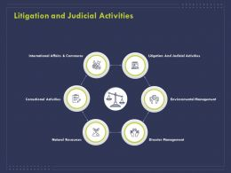 Litigation And Judicial Activities Ppt Powerpoint Presentation Summary Slides