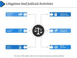 Litigation And Judicial Activities Presentation Examples