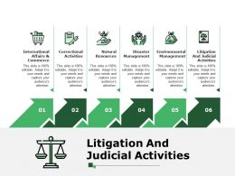 Litigation And Judicial Activities Presentation Powerpoint Templates