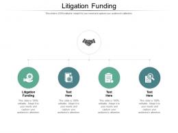 Litigation Funding Ppt Powerpoint Presentation Infographics Graphics Download Cpb