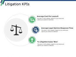 Litigation Kpis Powerpoint Slide Information