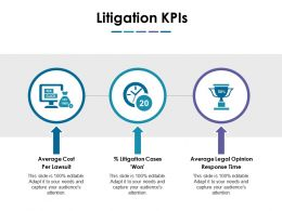 Litigation Kpis Ppt Sample Presentations