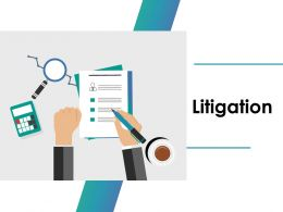 Litigation Ppt Outline Infographic Template
