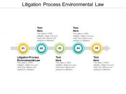Litigation Process Environmental Law Ppt Powerpoint Presentation Model Brochure Cpb