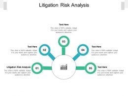Litigation Risk Analysis Ppt Powerpoint Presentation Icon Show Cpb