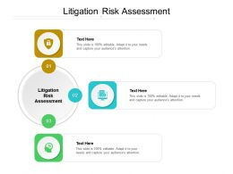 Litigation Risk Assessment Ppt Powerpoint Presentation Gallery Example Introduction Cpb