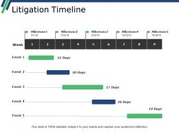 Litigation Timeline Powerpoint Presentation