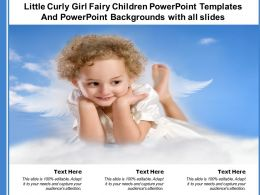 Little Curly Girl Fairy Children Powerpoint Templates With All Slides Ppt Powerpoint