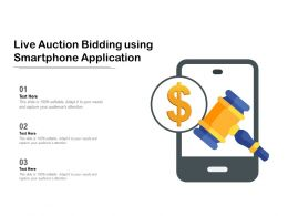 Live Auction Bidding Using Smartphone Application