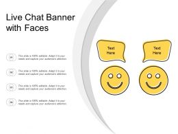 Live Chat Banner With Faces