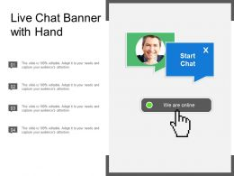 Live Chat Banner With Hand