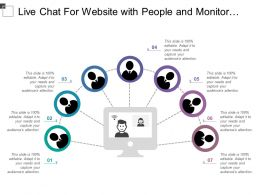 Live Chat For Website With People And Monitor Image