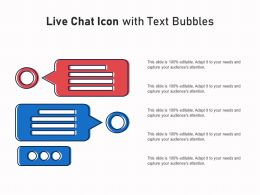Live Chat Icon With Text Bubbles