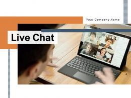 Live Chat Service Instructions Illustrating Customer Assistance Representing