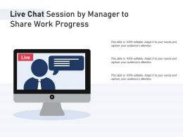Live Chat Session By Manager To Share Work Progress