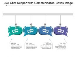 Live Chat Support With Communication Boxes Image
