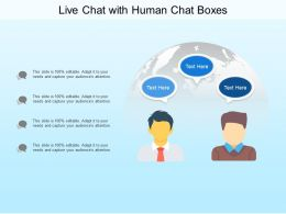 Live Chat With Human Chat Boxes