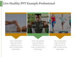 Live Healthy Ppt Example Professional