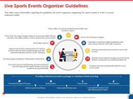 Live Sports Events Organizer Guidelines Ppt Powerpoint Presentation Information