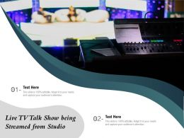 Live TV Talk Show Being Streamed From Studio