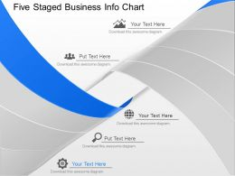 lj Five Staged Business Info Chart Powerpoint Template
