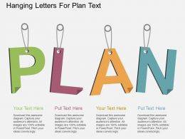lj Hanging Letters For Plan Text Flat Powerpoint Design