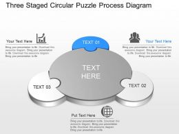 lj Three Staged Circular Puzzle Process Diagram Powerpoint Template