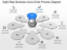 Lk Eight Step Business Icons Circle Process Diagram Powerpoint Template Slide